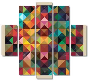 Красочные треугольников современный абстрактный Мозаика дизайн шаблон