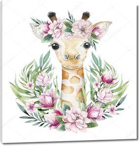 Рисунок с маленьким жирафом