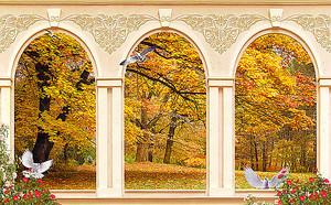 Осень сквозь арки