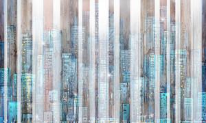 Город ночью, абстракция