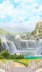 Лестница, ведущая к водопадам