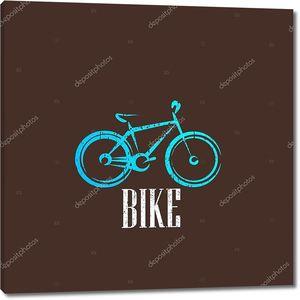 Винтаж иллюстрация с изображением велосипеда