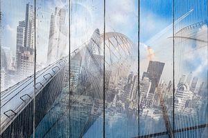 Абстрактный вид на мегаполис