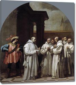 Кардучо Висенте. Папа Урбан II призвал святого Бруно в Рим