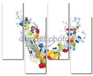 Свежие фрукты и Ледяной куб