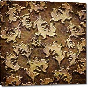 Золото металлический шаблон на бумаге коричневый backgrond