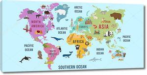 Векторный дизайн карты мира