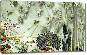 Павлин у бамбука