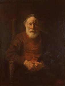 Рембрандт Ван Рейн. . Портрет старика в красном