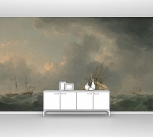 Чарльз Брукинг. Английские корабли перед бурей