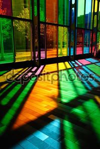 Красочные витражи шаблон (palais des congres - Монреаль, c
