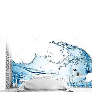 водный всплеск, изолированный на белом