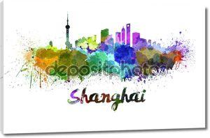 Шанхайский горизонт в акварели