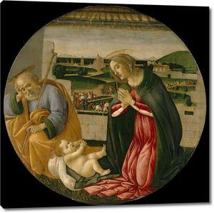Боттичелли. Поклонение младенцу Христу (рондо)