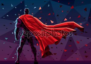 Абстрактный рисунок супергероя