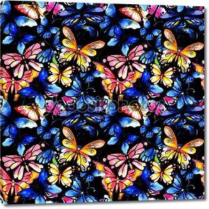 акварельная бабочка бесшовный образец