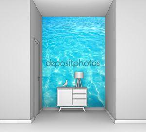 Карибский бирюзовой водой пляж отражение Аква