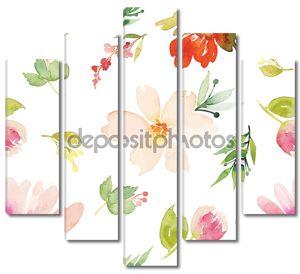 Цветы выполеные акварелью