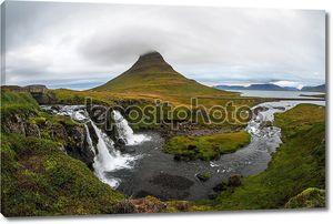 Kirkjufellsfoss водопад и kirkjufell гора