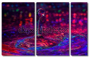 красочные макро фотографии ofwater капли.