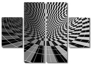 Клетчатый текстуры 3d фон изогнутый