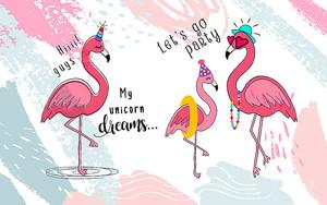 Фламинго на вечеринке