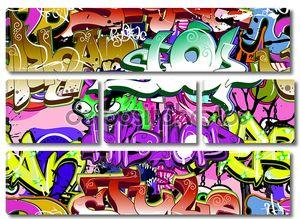 Граффити стены. Городское искусство Векторный фон. Бесшовные хип-хоп tex