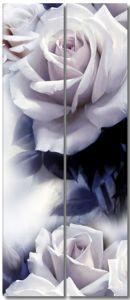 Две розоватых розы