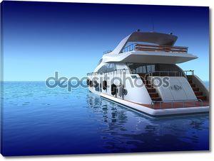 Роскошная яхта на глади океана