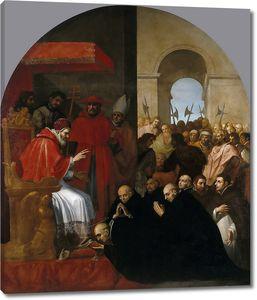 Кардучо Висенте. Св. Бруно со своими соратниками на приеме Урбана II