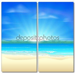Летом песок пляж фон