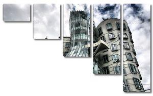 Прага, танцующая дом