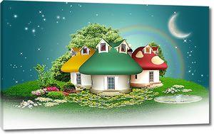 Домики под луной