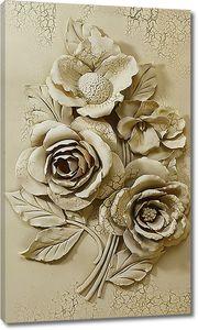 Розы. Кракелюр