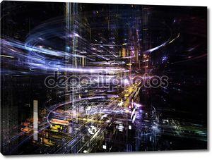 концептуальных городских абстракция