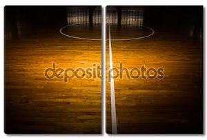 деревянный пол баскетбольная площадка