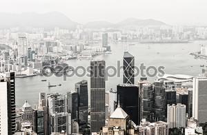 Гонконг и Коулун зданий. вид с воздуха на небоскребы на