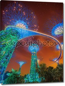 supertree в сады, залив, Сингапур