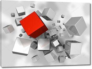 Взрыв кубов