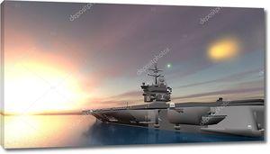 3D CG рендеринг авианосца