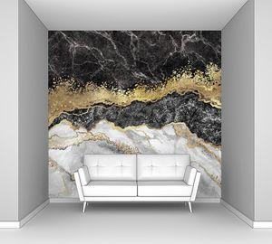 абстрактный фон, креативная текстура мрамора и золотой фольги, декоративный мрамор, искусственный модный камень, мраморная поверхность