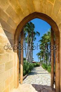 арочные двери на пальмовая аллея