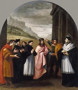 Висенте Кардучо. Св Бруно с шестью сподвижниками решают уйти из мира в отшельничество
