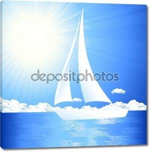 Яхт в море
