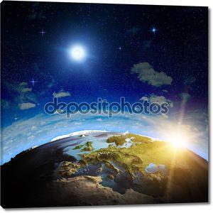 европейский восход солнца