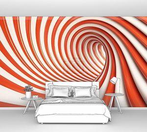 Абстрактный красный тоннель