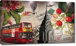Конверт с лондонским автобусом