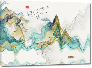 Пейзажная фантазия на тему гор