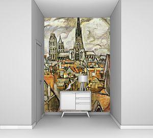 Красивая фреска с множеством домов
