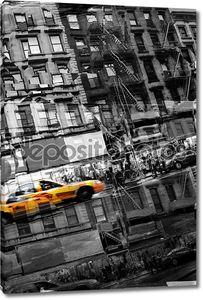 Абстрактный NYC такси